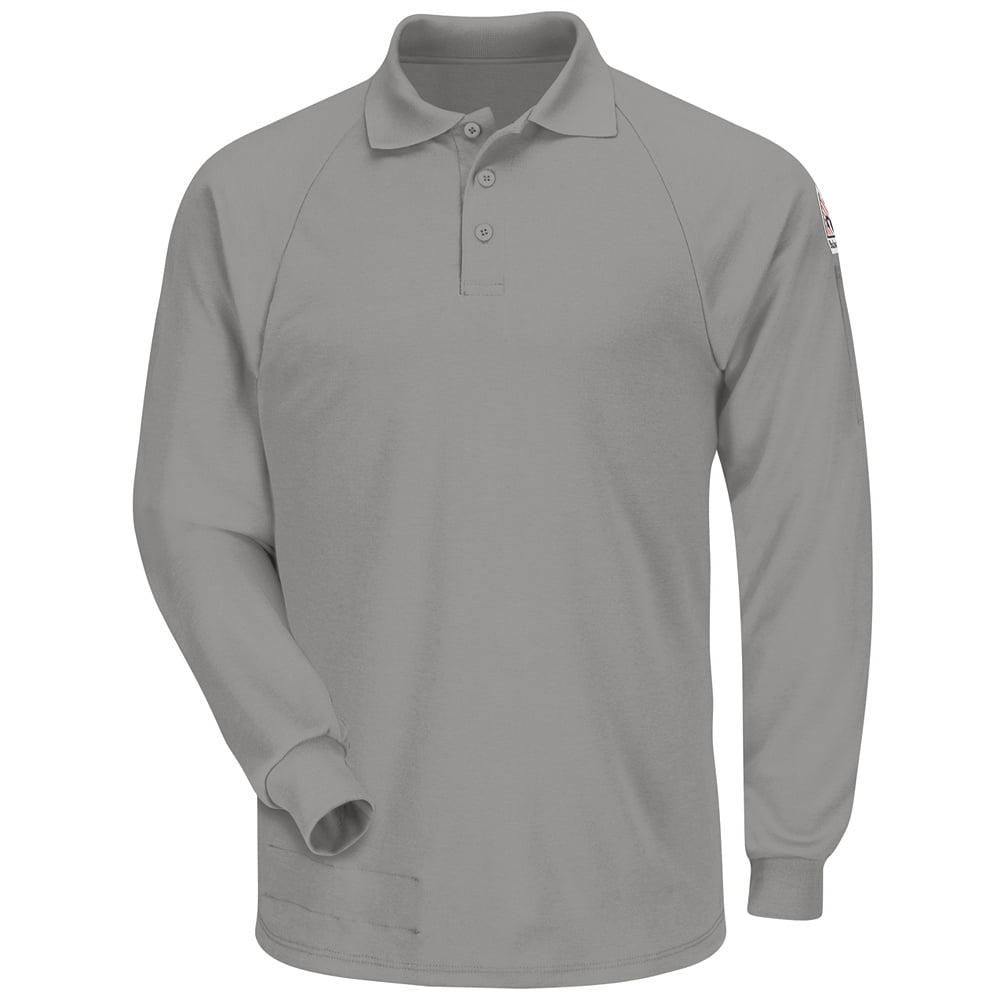Bulwark FR Grey Classic Long Sleeve Polo