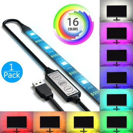 EEEKit USB RGB LED Strip, 5050 LED Lighting Strip for TV Computer Background, Multi Color TV Backlight for HDTV PC (Best Lcd Tv For Computer Monitor)