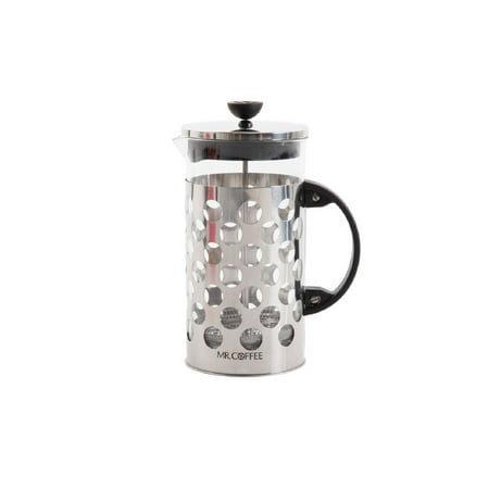 Mr. Coffee Polka Dot 32 oz. Stainless Steel Coffee Press