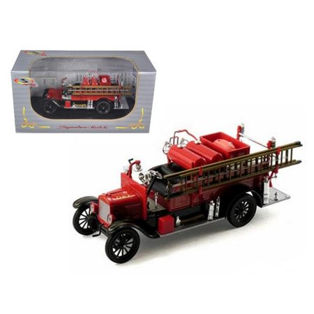 1926 Ford Model T Fire Engine Red & Black 1-32 Diecast Model