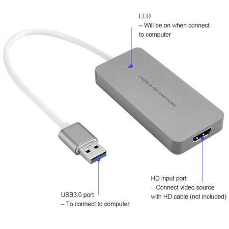 ezcap265 HD Capture Card Video Game Recorder 1080P Live Sreaming Converter USB 3.0 for XBOX One PS3 PS4 WII U