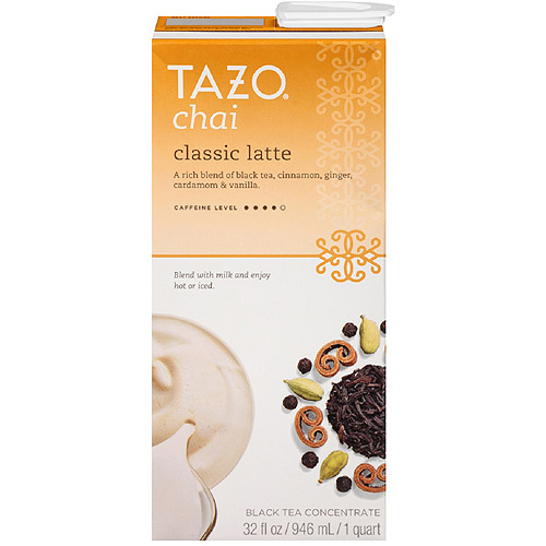 Tazo Chai Spiced Black Tea Latte Concentrate, 32 oz