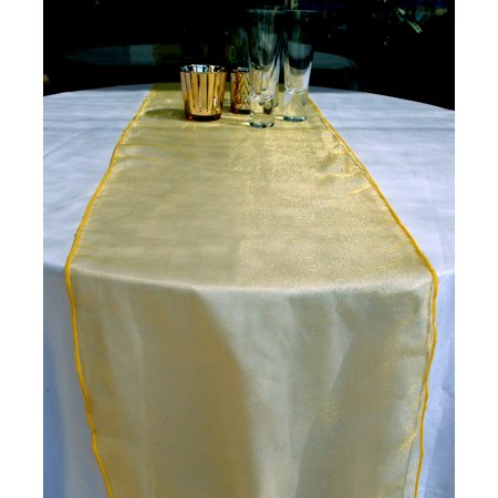 Yellow Table Runners (Quasimoon Organza Table Runner - Yellow by)
