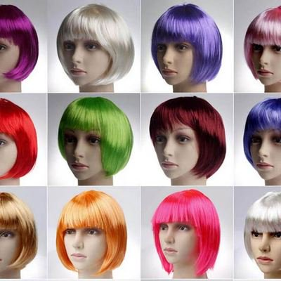 Halloween Wig (Blue And Yellow Wig)