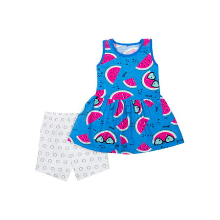 100% Organic Cotton Sleeveless Peplum Tunic & Shorts, 2pc Outfit Set (Toddler - Eazy E Outfit
