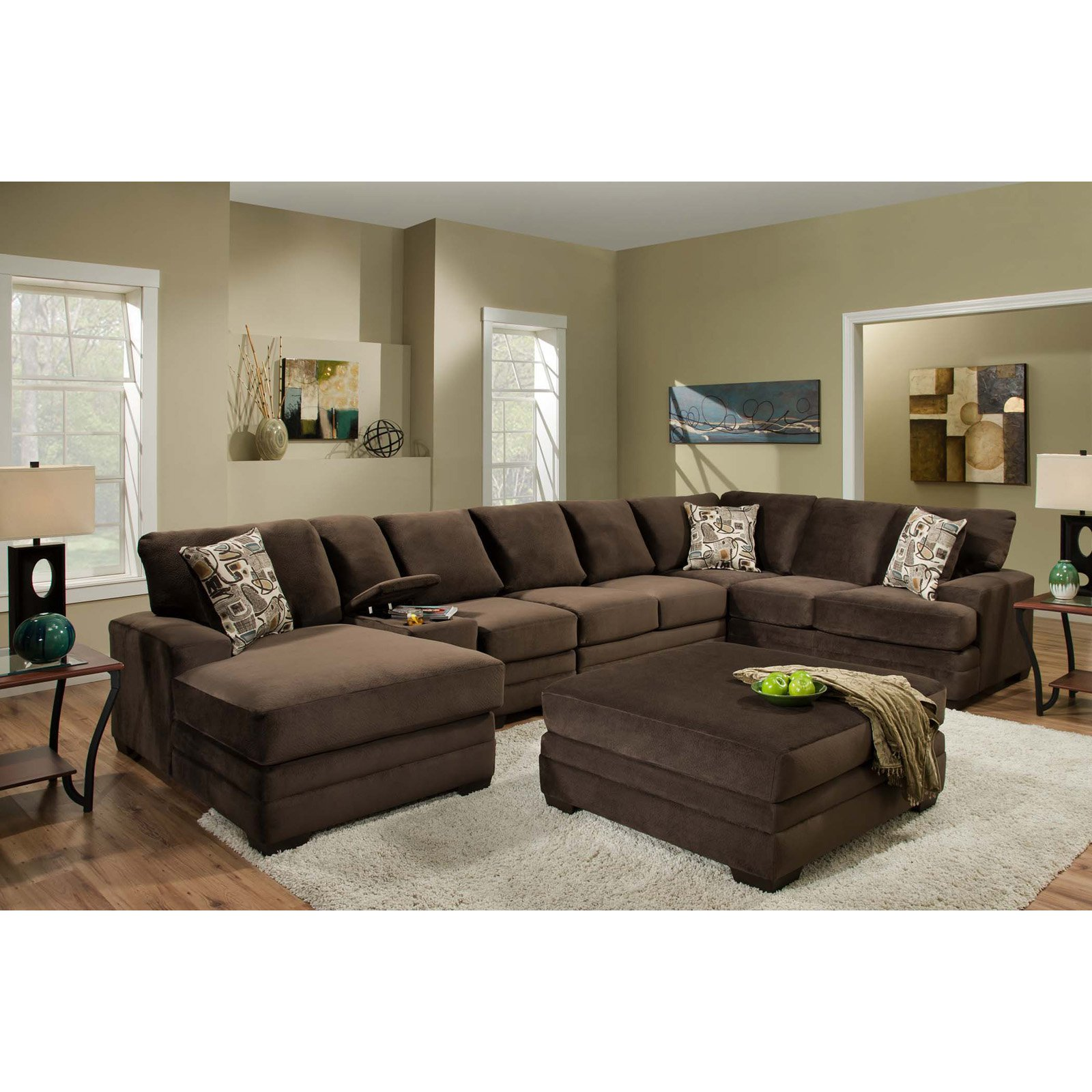 Chelsea Home Furniture Barstow 6 Piece Sectional Sofa