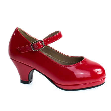 Dana63K by Forever Link, Girl Round Toe Mary-Jane Dress Pump w Platform. Children Shoes Toe Waterproof Platform