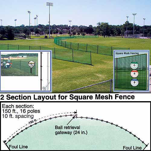 Outfield Fencing, 150' Roll