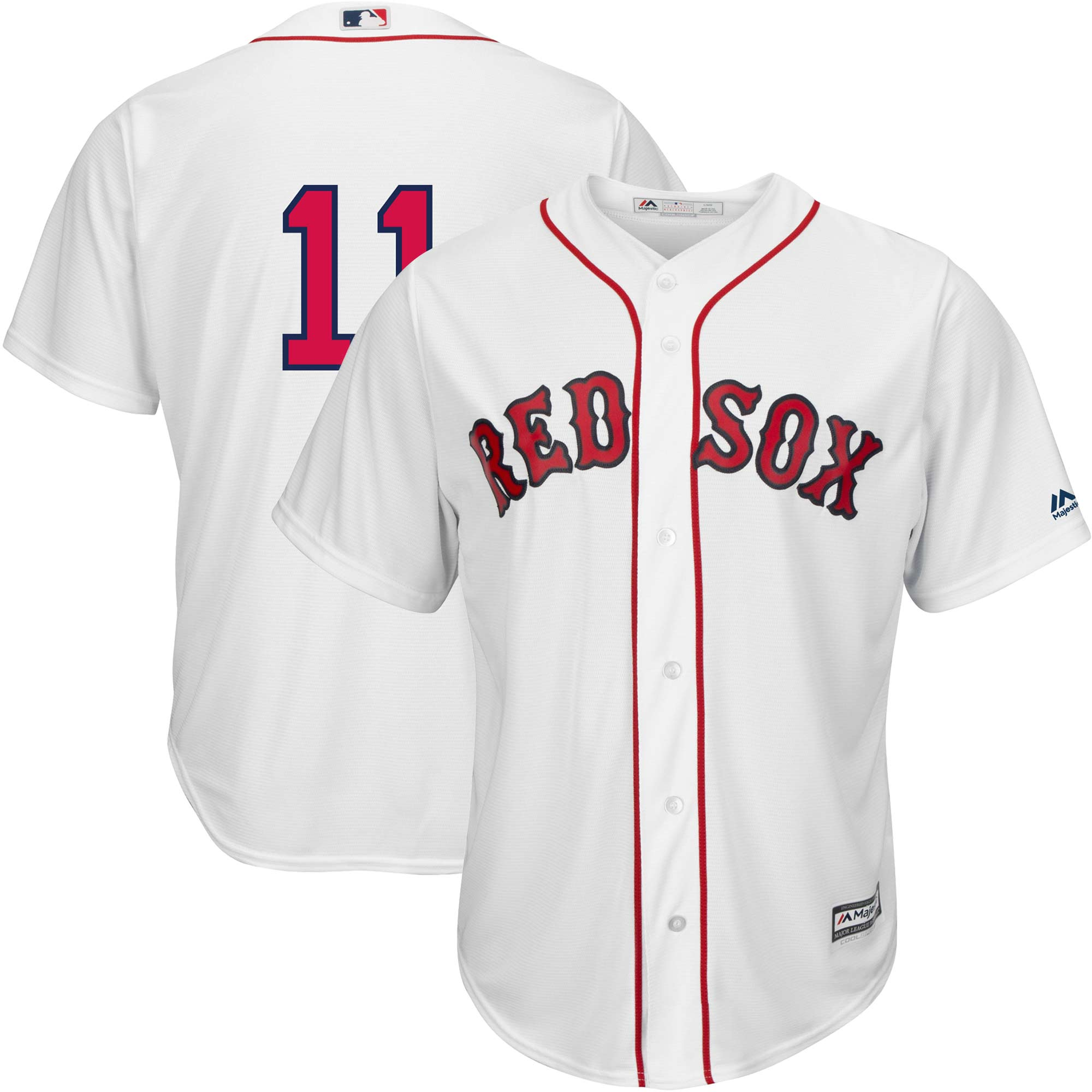 Rafael Devers Boston Red Sox Majestic Home Official Cool Base Replica Player Jersey - White