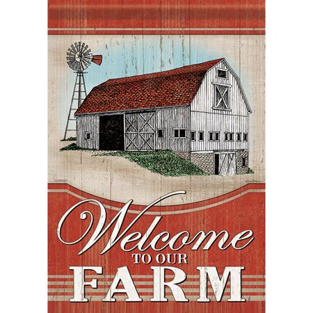 - Carson Home Accents Farm Welcome 2-Sided Polyester Garden Flag