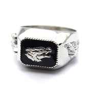 Howling Wolf Ring for Men, Retro Wolf Totem Rings, Norse Viking Wolf Head Ring, Punk Wolf Signet Rings, Tribal Amulet Ring, Gothic Animal Wolf Jewelry Gift for Men Boys (11)
