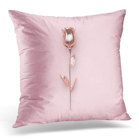 ARHOME Colorful Blank Abstract Metallic Pink Rose Valentine Concept 3D Rendering Clean Pillows case 18x18 Inches Home Decor Sofa Cushion Cover