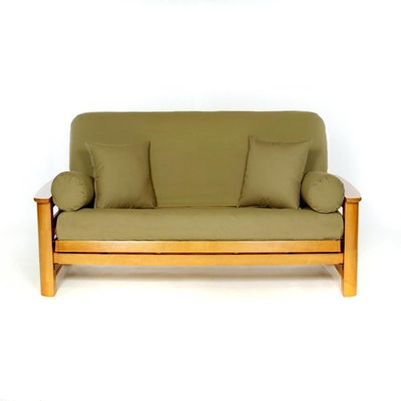 LS COVERS OLIVE FULL FUTON COVER, Full Size Fits 6-8in Mattress, 54 x 75 Inch ()