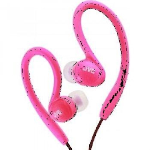 JVC HA-EBX85-P Ladies' Sport Ear-Clip Headphones (Pink)
