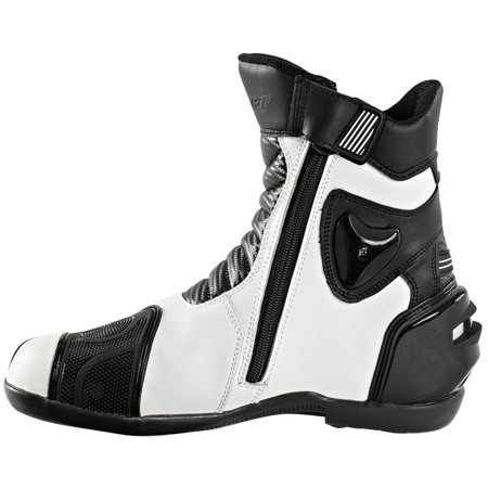 Joe Rocket Superstreet Mens White Leather Boots