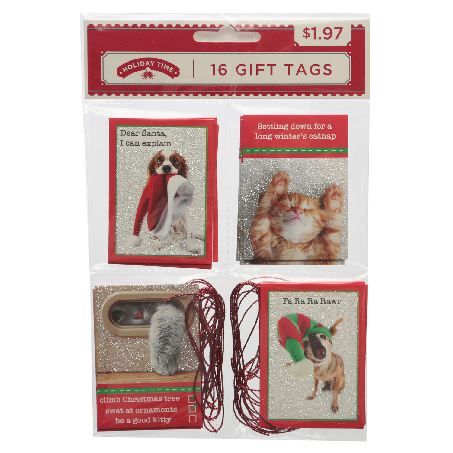 Holiday Time 16ct Pet Qrtet Tag