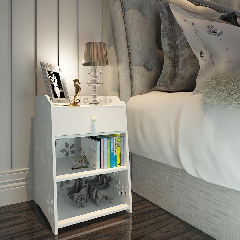 Ktaxon Night Stand Bedside Table Bedroom Furniture Stroage Shelf Modern White