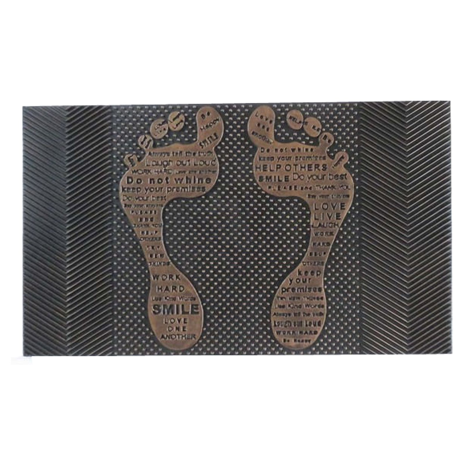 First Impression Funny Feet Outdoor Door Mat