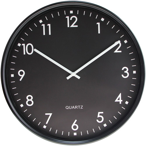 Fujian Reida Precision Co.,LTD Mainstays 15 Black Basic Wall Clock