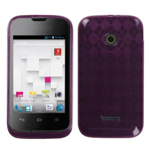 Insten Purple Argyle Candy Skin Case For HUAWEI U8686 Prism II H867G Inspira