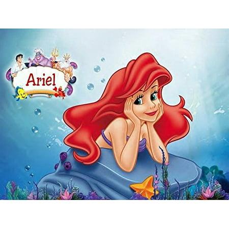1/4 Sheet Little Mermaid Ariel Edible Frosting Cake Topper*