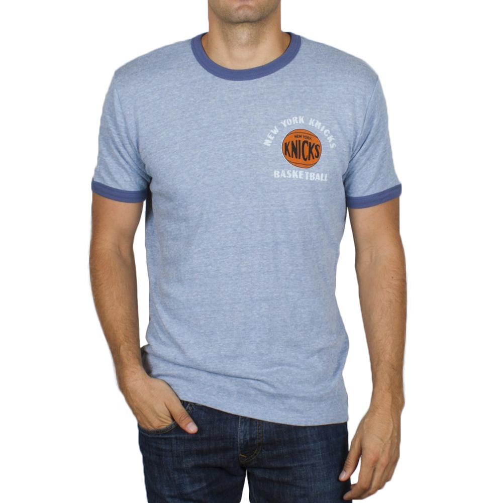 New York Knicks - Turnover Tri-Blend Soft Ringer T-Shirt - X-Large
