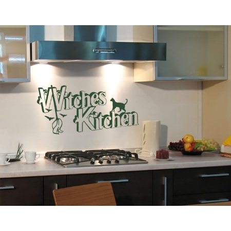 Halloween Witches Kitchen Wall Decal - Wall Sticker, Vinyl Wall Art, Home Decor, Wall Mural - 2269 - Beige, 59in x 29in](Halloween Wall Decor)