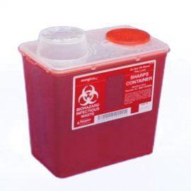 - Medium 8 Qt. Sharps Disposal Container, Chimney-Top, Red - 8881676285, Medium 8 quart By Monoject