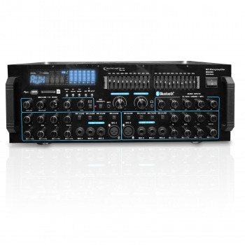 Professional Mic Mixing Amplifier with USB / SD Card Inputs & Bluetooth Compatibility