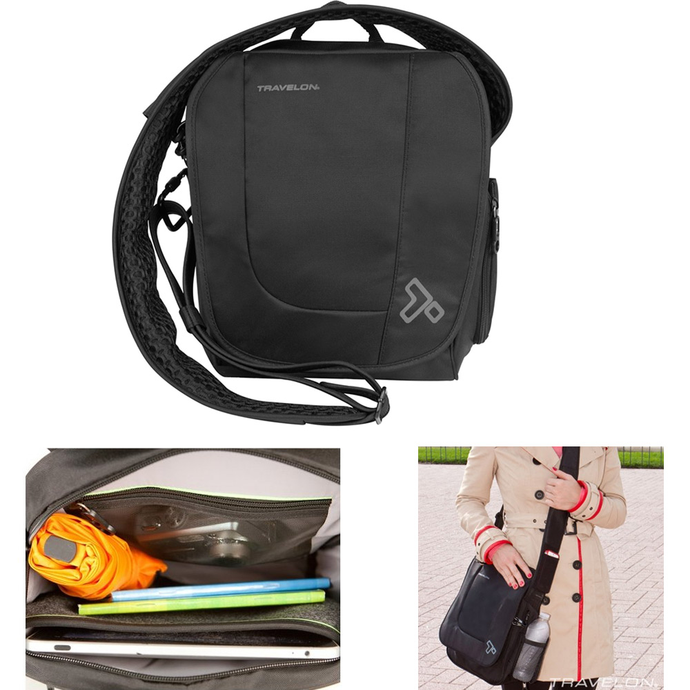 Travelon RFID Anti Theft Urban Tour Shoulder Sling Messenger Bag Travel Men Lady