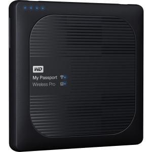 WD 3TB My Passport Wireless Pro Portable External Hard Drive - WiFi AC, SD, USB 3.0 - Wireless LAN - USB 3.0 - 256 MB Buffer - Portable -