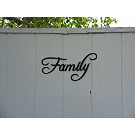 Family Word Home Decor Metal Wall Art - Walmart.com