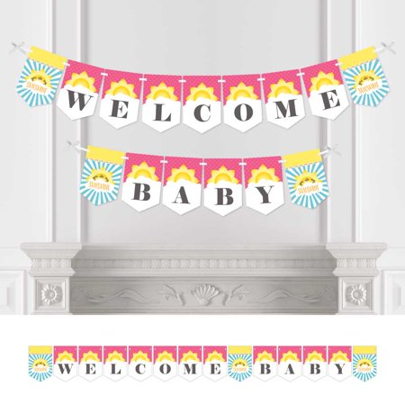 You Are My Sunshine - Baby Shower Bunting Banner - Sunshine Party Decorations - Welcome Baby (You Are My Sunshine Baby Shower Decorations)