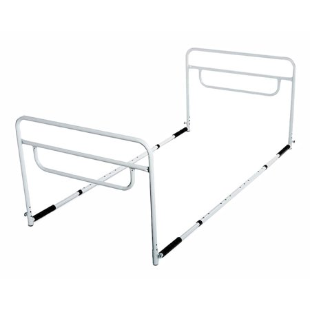 RMS Dual Bed Rail - Adjustable Height Bed Assist Rail, Bed Side Hand Rail - Fits Full & Twin Beds (Dual Hand (Fits Rails)