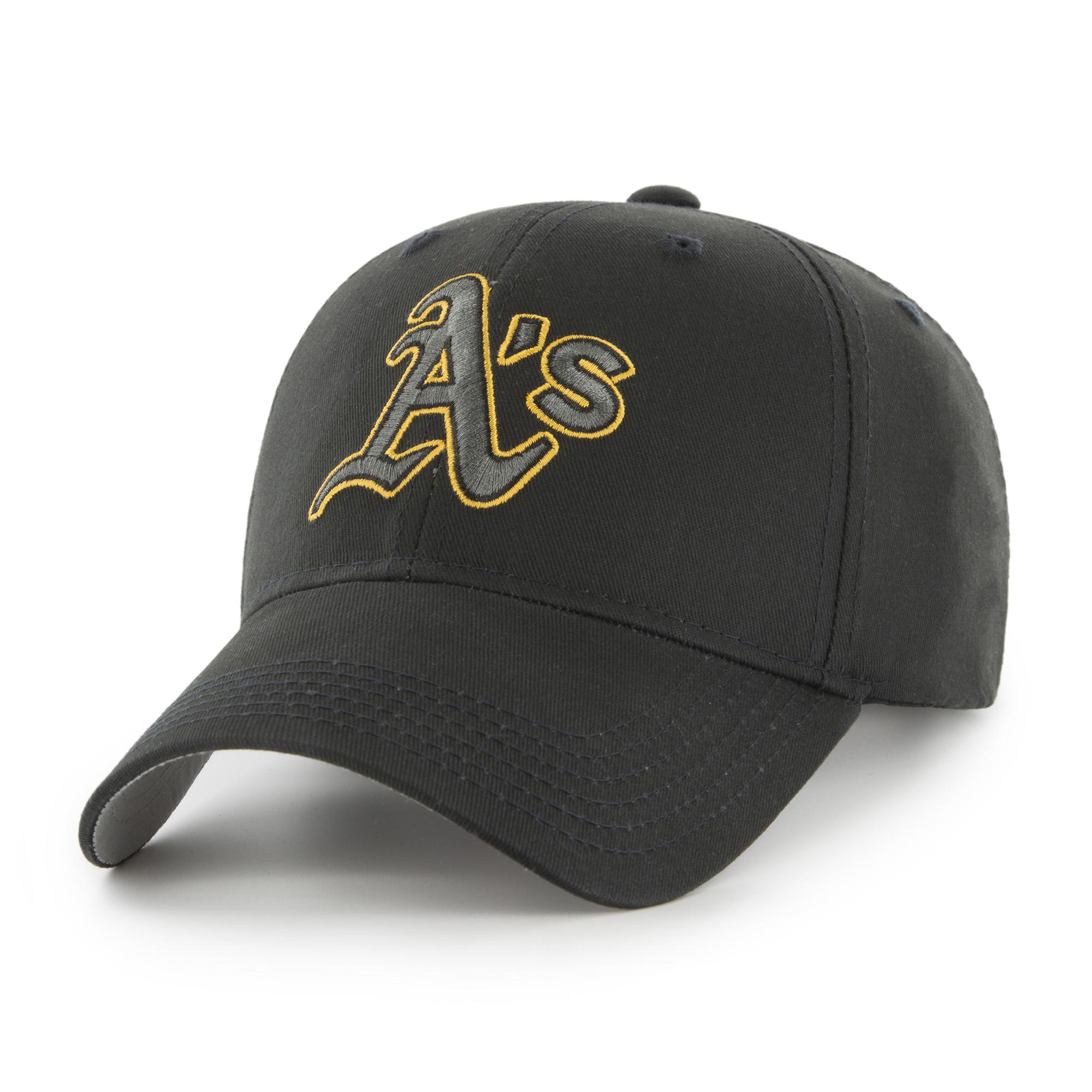 MLB Oakland Athletics Black Mass Basic Adjustable Cap/Hat by Fan Favorite