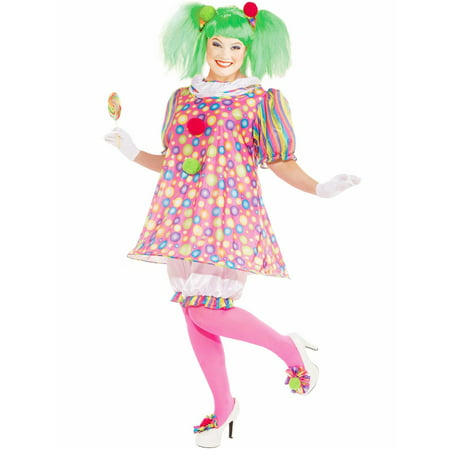 Womens Tickles The Clown Plus Size Costume](Plus Size Clown Costume Women)