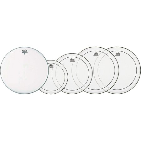 Remo Clear Pinstripe Fusion Pro Pack with Free 14 in. Coated Ambassador Snare Drum Head