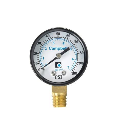 Campbell  0 psi 100 psi Pressure Gauge 100 Psi Pressure Gauge