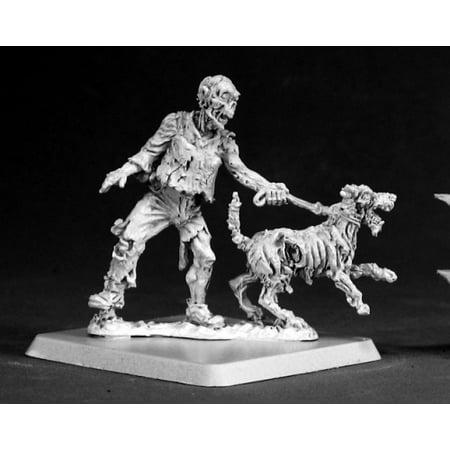 - Reaper Miniatures Zombie Dog Handler #50069 Chronoscope D&D RPG Mini Figure