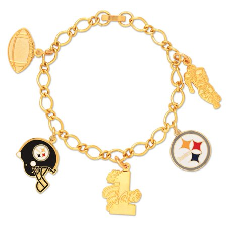 Pittsburgh Steelers Official Nfl 7 Inch Charm Bracelet By Wincraft