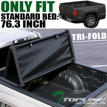 Topline Autopart Tri Fold Soft Vinyl Truck Bed Tonneau Cover For 02 08 Dodge Ram 1500 03 09 2500 3500 6 5 Feet 78 Short Bed Walmart Com Walmart Com