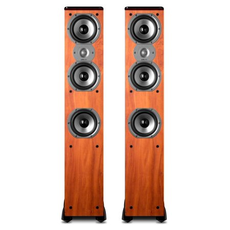 Polk Audio TSi400 Floor Standing Speaker (Cherry)  Pair (Polk Audio Floor Standing Speaker R50 Review)