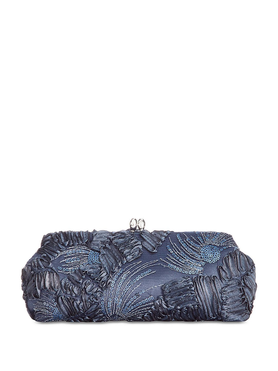 Chain Strap Embroidery Clutch