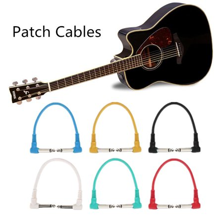 (6Pcs 1/4 Right Angle Audio Patch Cables Cords for Electric Guitar Effect Pedal Effects Cable Effect Pedal Cable)