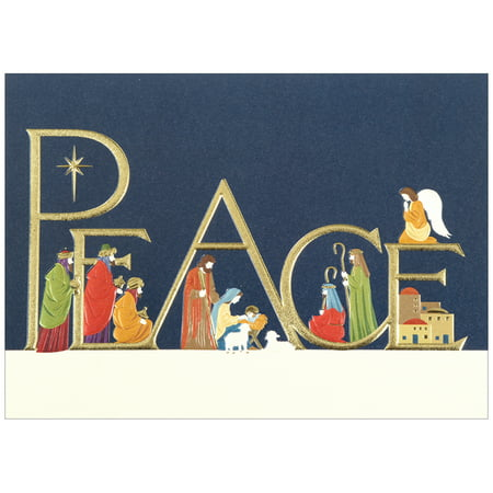 jam paper blank christmas card sets peace nativity christmas cards 25pack - Nativity Christmas Cards