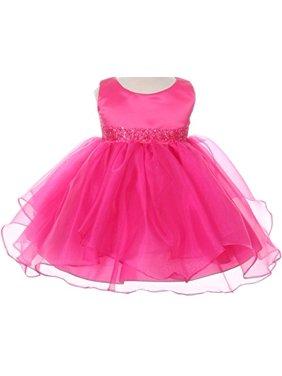3d39c25603f Product Image Infant   Baby Flower Girl Dress with Sequin Embellished  Waistline Coral L B111. BNY Corner