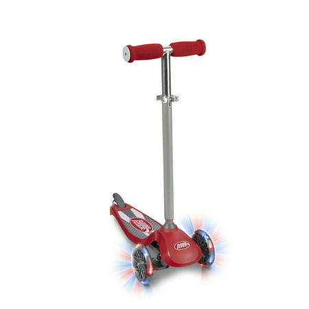 Radio Flyer, Lean 'N Glide with Light Up Wheels Scooter, Red