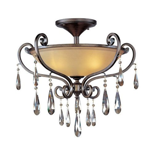 Maxim Lighting 14302COHR 3 Light Chic Semi Flush Ceiling Light