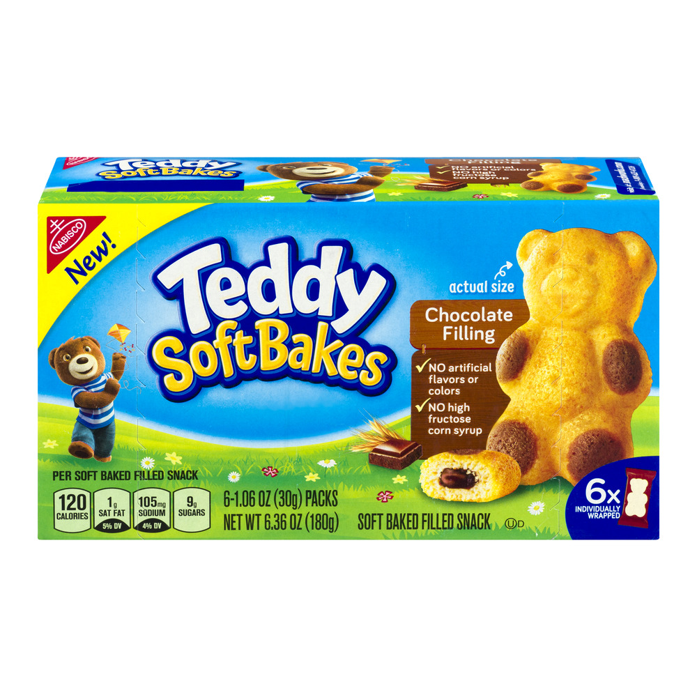 Teddy Soft Bakes Chocolate Filling - 6 CT