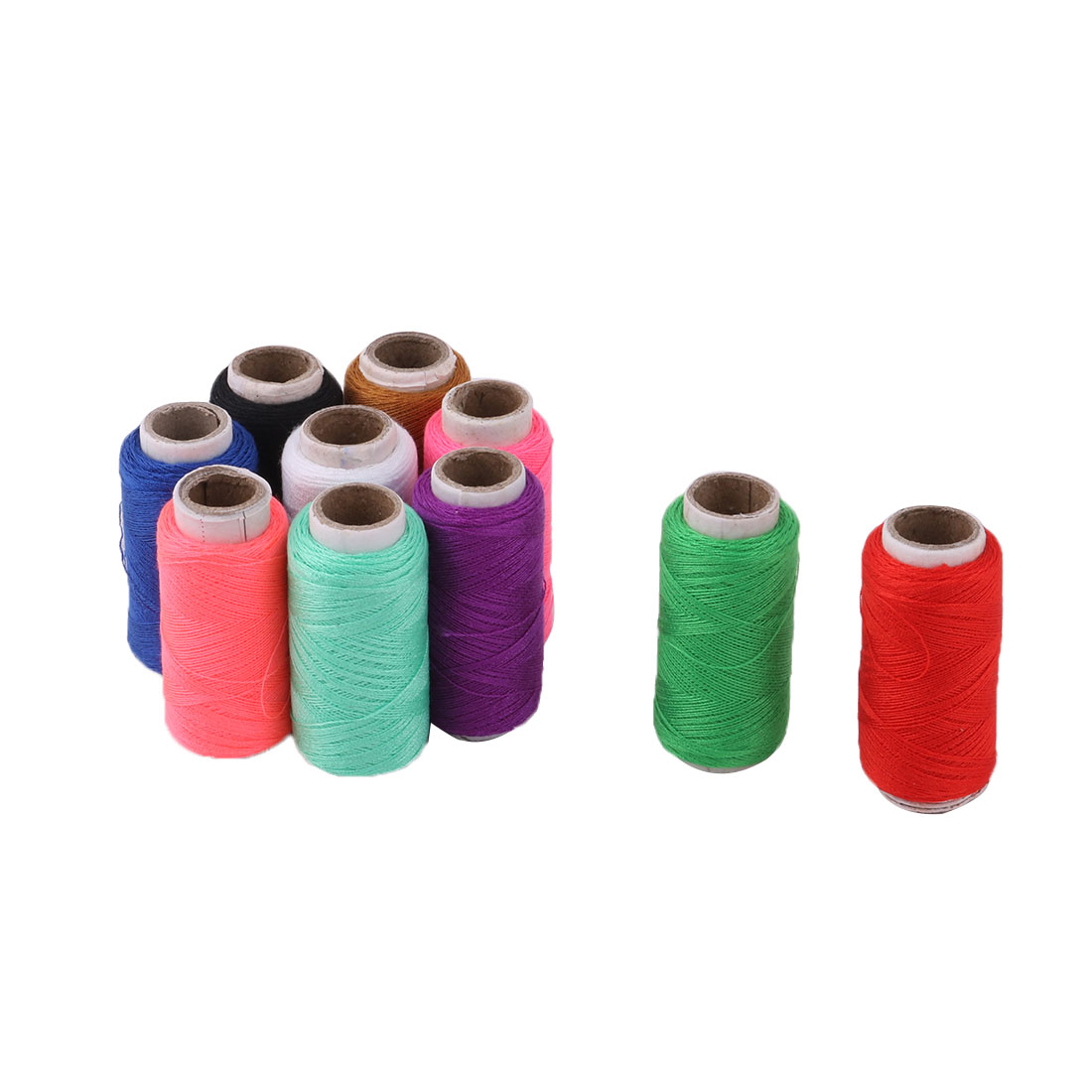 Family Polyester Handicraft DIY Clothes T-shirt Sewing Thread Spool Reel 10 Pcs